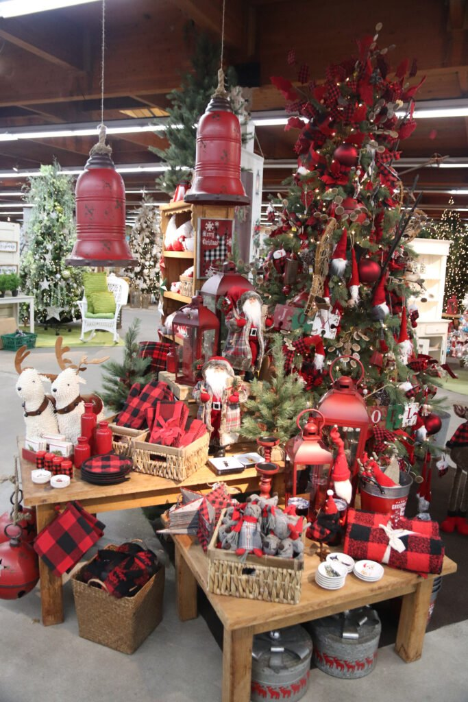 Beautifully decorated Christmas Trees at Flowerland