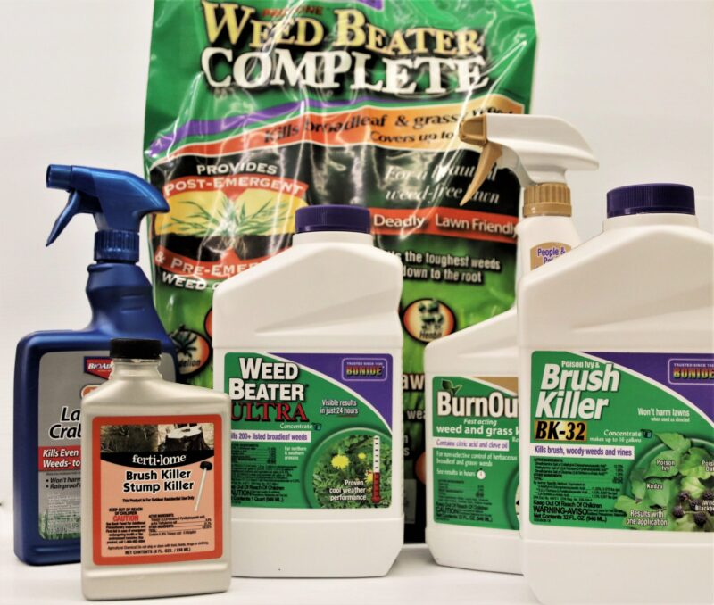 Broadleaf and grassy weed and brush controls at Flowerland