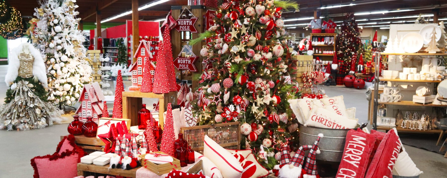 Designer Decorated Christmas Trees at Flowerland