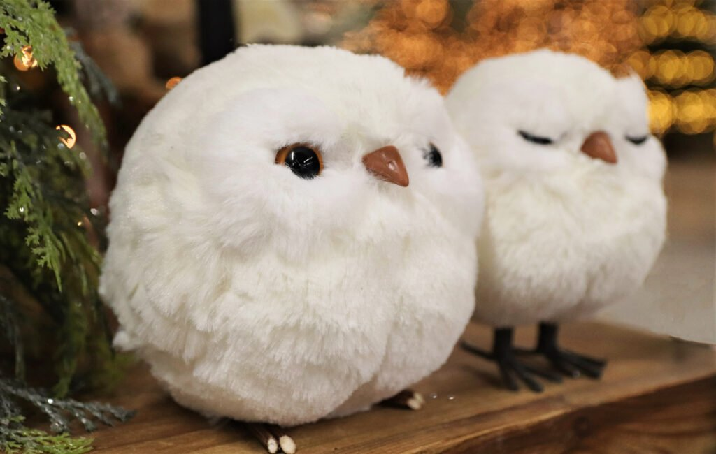 Owl Christmas ornaments at Flowerland